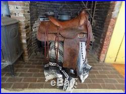 Vintage Western Roping Saddle