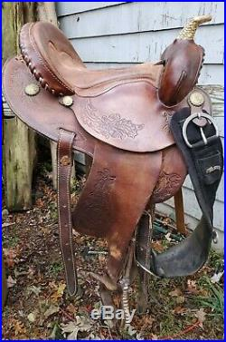 Western Blue Ridge Barrel Saddle 15