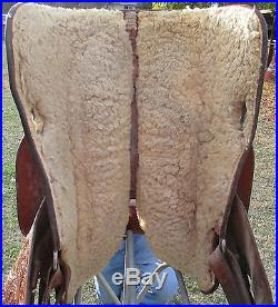 Western Equitation Show Saddle, Broken Horn, Sterling Silver, Pleasure Saddle