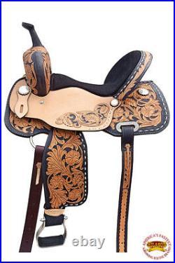 Western Horse Barrel Saddle Trail Pleasure Leather Oiled U-R119