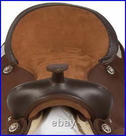 Western Horse Saddle Brown Barrel Racing Pleasure Trail Show Tack 14 15 16 17