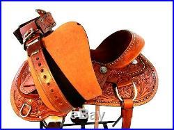 Western Saddle 15 16 17 Trail Pleasure Silla De Montar Caballo Leather Tack Set