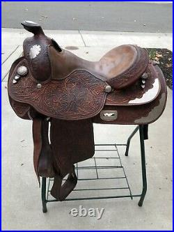 Western Show Saddle Size 15 Excellent Condition