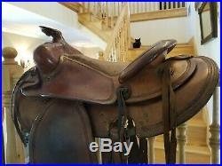 Western leather saddle, Vintage, size 16