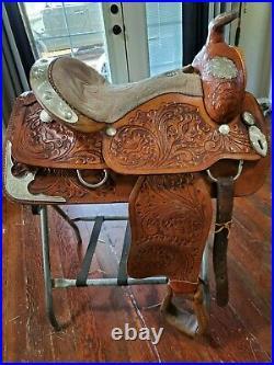 Western pleasure saddle tan leather