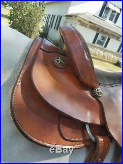 Western saddle 16 used Santafe light tan